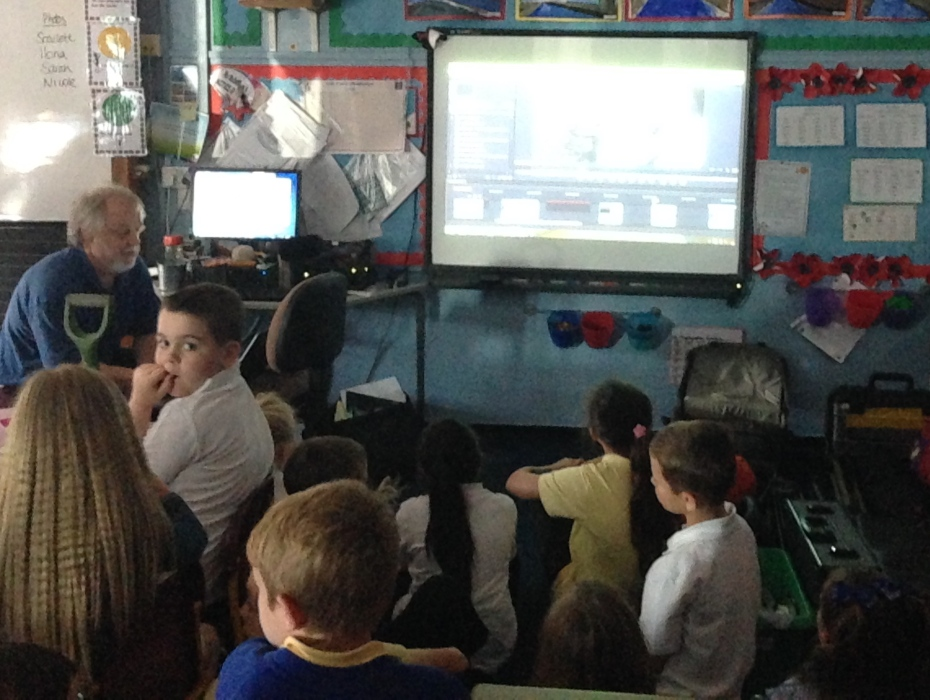 Watching a piece of recent animation, Benton Park Primary.