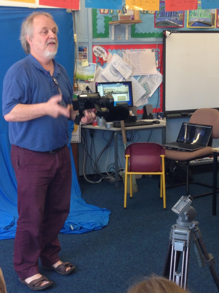 Marc McKiernan of Haltwhistle Film Project at Benton Park Primary